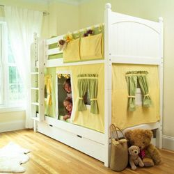 Making this Bunk Bed Tent for my granddaughter Karlie for Christmas.  Using pink and green as the colors.