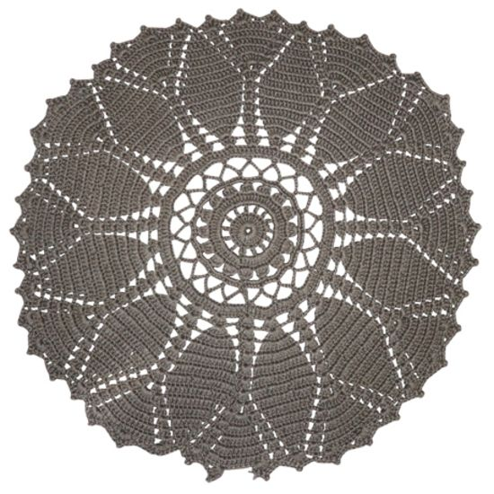 Doily | Recycled Floor Rug | Grey | Recycled Mats