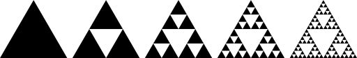 Sierpinski triangle ======================= How self-similarity and recurring patterns can create infinity even within a fixed boundary