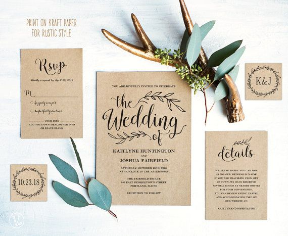 Best 25 Kraft wedding invitations ideas – Invitation Card Paper
