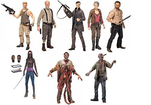 McFarlane Toys Complete Set of 8 Characters The Walking Dead Toy Action Figure @ niftywarehouse.com #NiftyWarehouse #WalkingDead #Zombie #Zombies #TV