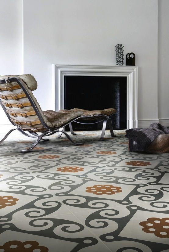 Frame tile from Refin designed by Italian graphic design firm Studio FM premiered at Cersaie