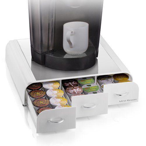 "Mind Reader ""Anchor""Coffee Pod Storage Drawer for 36 Keurig K-Cup,42 CBTL/Verismo Coffee Pods, White - http://hotcoffeepods.com/mind-reader-anchorcoffee-pod-storage-drawer-for-36-keurig-k-cup42-cbtlverismo-coffee-pods-white/"