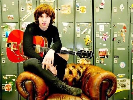 Van McCann of Catfish and the Bottlemen poses backstage after performing live and signing copies of their debut album 'The Balcony' at HMV Manchester (Photo by Shirlaine Forrest/Redferns via Getty Images)