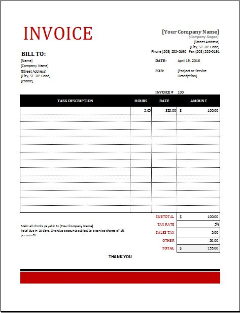 39 best Microsoft Excel Invoices images on Pinterest Invoice - handyman invoice template