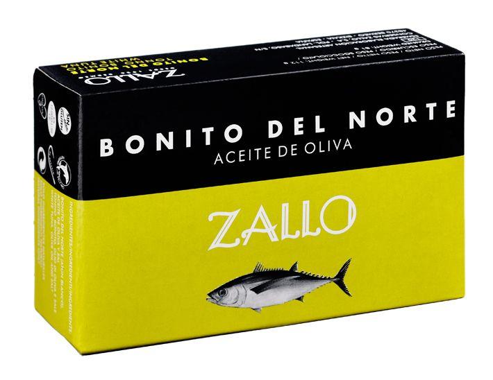 Bonita del Norte van Zallo - Witte Tonijn uit de Cantabrische Zee  Van Zallo voeren we een aantal pareltjes, zo ook deze witte tonijn die met de lijn gevangen wordt tussen juni en oktober in de Cantabrische Zee in Noord-West Spanje. Deze tonijnsoort staat bekend om de hoogste kwaliteit binnen de tonijnsoorten. Kenmerkend voor deze witte tonijn is het malse vlees, de zachte en de sappige textuur.  Deze tonijn laat zich uitstekend begeleiden op een goed stuk brood of door een salade.