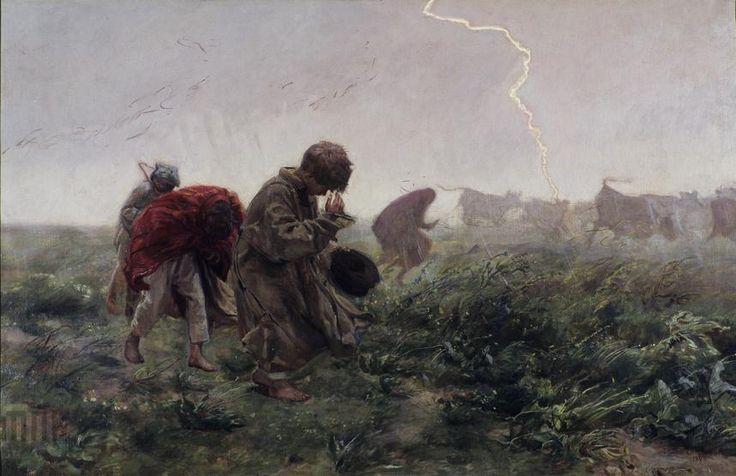 """Józef Chełmoński """"Burza"""" (1896), Muzeum Narodowe w Krakowie - Sukiennice"""