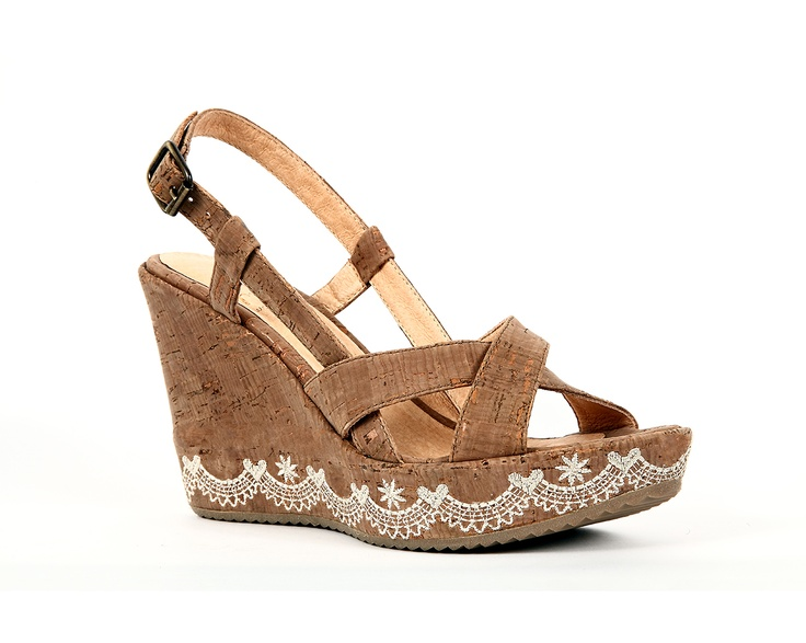 wedge sandal quot ondas do mar quot beige by rutz walk in cork