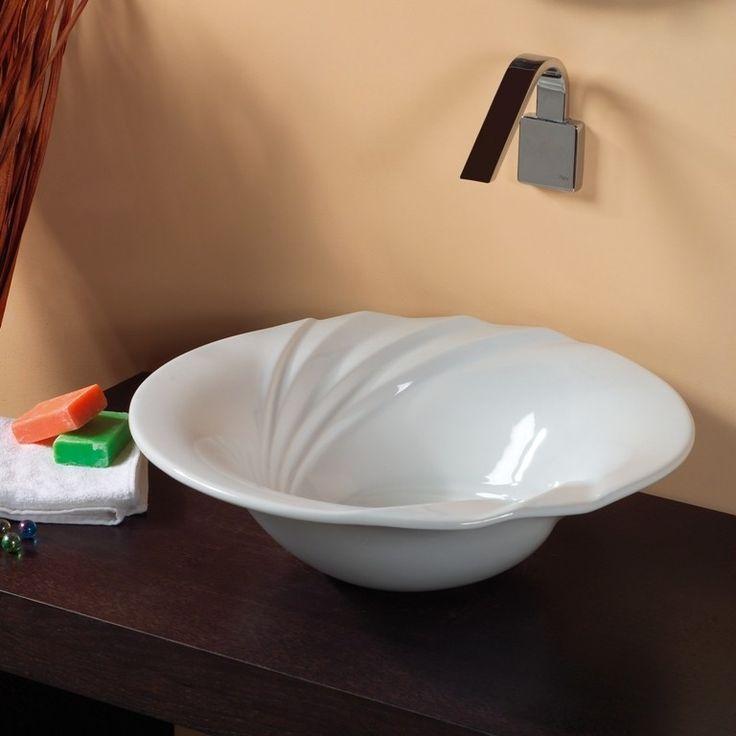 Superieur Modern Quality Crafted Designer High End Ceramic Bathroom Vessel Sink.