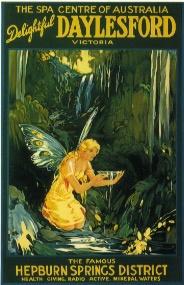 Hepburn Springs History ~ Original postcard for Hepburn Bathhouse & Spa, Daylesford & Hepburn Springs, Victoria. Australia