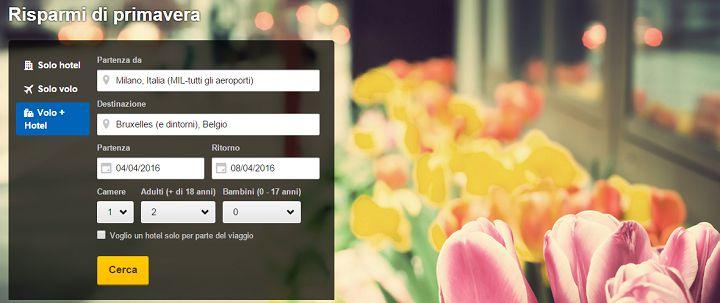 Expedia saldi di primavera su voli e hotel