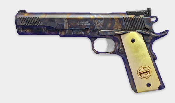 """Case hardening leads to patina. 1911 """"Trail Boss"""""""