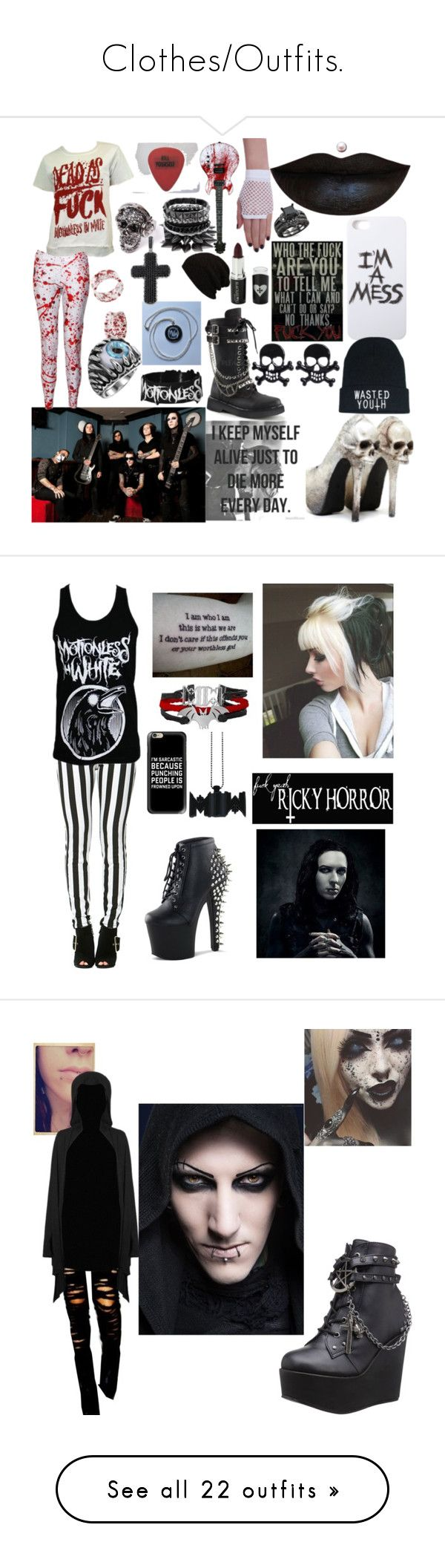 """""""Clothes/Outfits."""" by alexahudgins ❤ liked on Polyvore featuring LAUREN MOSHI, Demonia, S.W.O.R.D., Voom, David Yurman, White Raven, Olsen, Sykes, Casetify and Poizen Industries"""