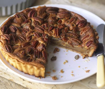 Pecan Pie - Pecans and toffee are meant to be together - and nothing proves that like Pecan Pie. This classic recipe uses thick Carnation Condensed Milk, and really is worth the wait!  You can make it too! Click for the recipe »