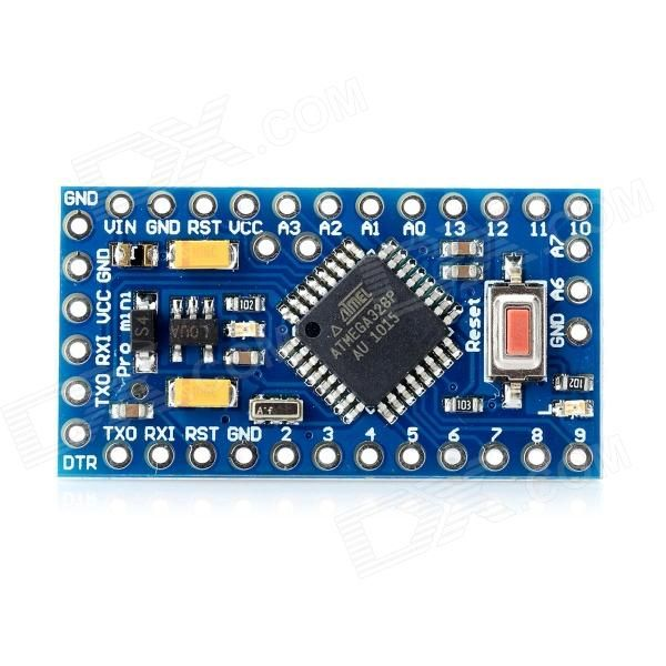 DIY ATMEGA328P 16MHz Electric Block Module - Blue