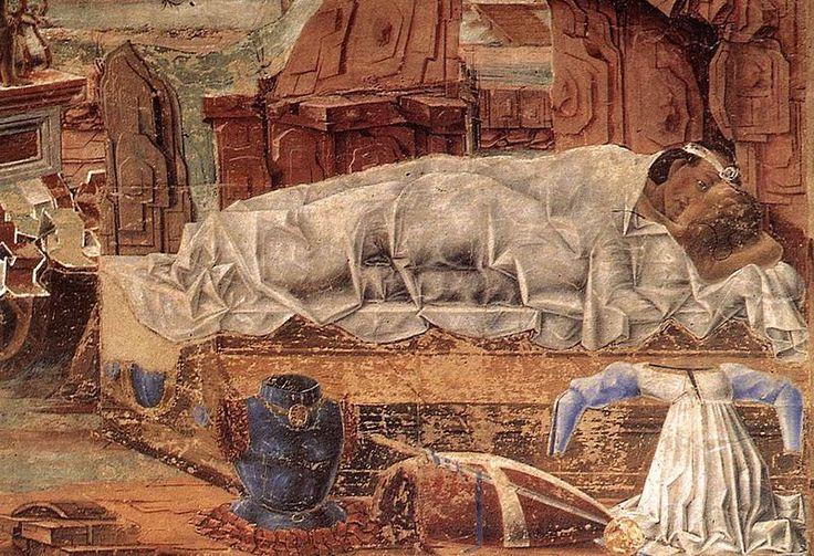 Cosmè Tura - Allegory of September (detail) Palazzo Schifanoia