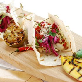 Baja Fish Tacos, a recipe from ATCO Blue Flame Kitchen's Hall of Flame 2007 cookbook.