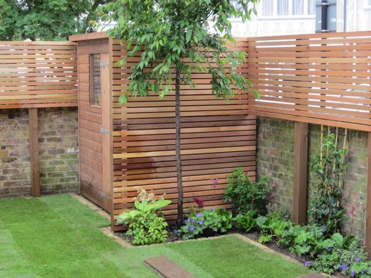 Great concept! The added height on the walls for privacy and the use of the same material for a storage shed or whatever this enclosed area might be used for.
