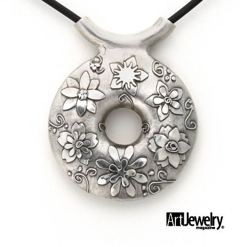 Metal Clay: Take a Crash Course in Metal Clay with this Appliquéd Bisque-bead Pendant (Download Now)