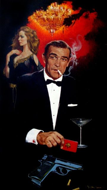 James Bond aka Sean Connory - true to the '60's era that the books were set in