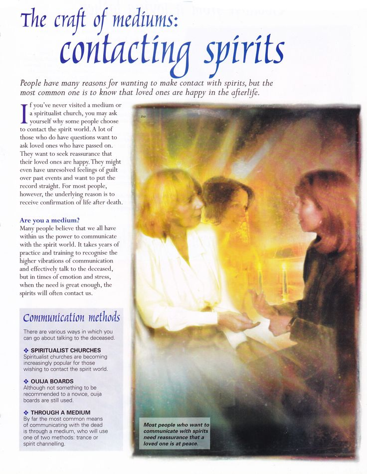 Mediums contacting spirits