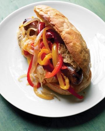 Salsicha sanduíches de peru
