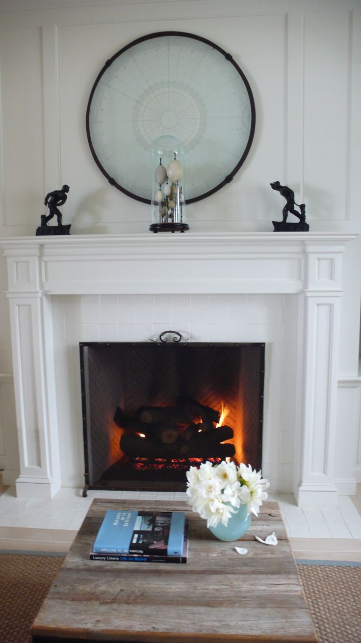 Inserts fireplace accessories new york by bowden s fireside - This Is The Fireplace In The Library Of Our Beach House Above The Mantle I Ve Hung An Antique Glass Navigationa