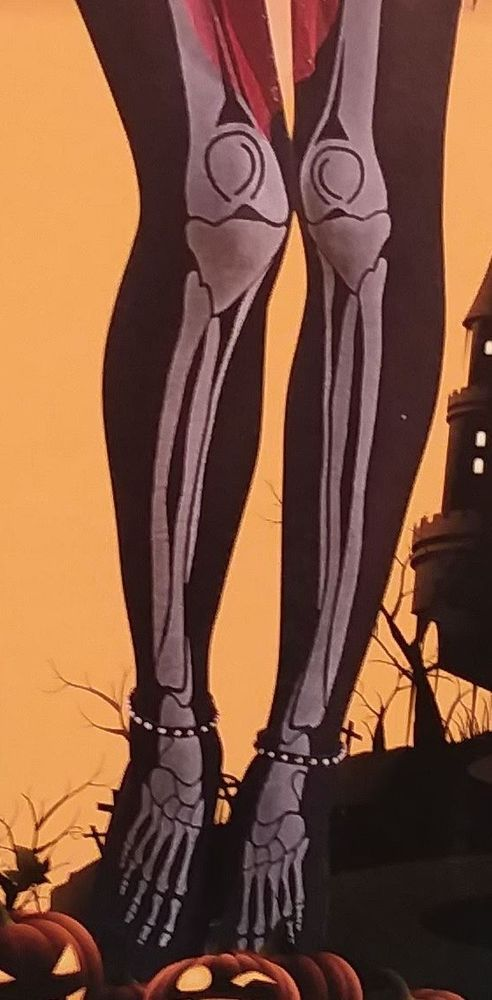 Ladies Pantyhose HALLOWEEN Hosiery Tights Bones GLOW in the DARK Goth  #Unbranded #Pantyhose