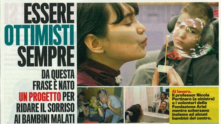#Ottimismo e #solidarietà. La rivista Il mio Papa a sostegno della #campagnaSMS di #FondazioneAriel! Manda un #SMSsolidale o chiama da rete fissa il 45507. Nessuno è #disabile alla #felicità!