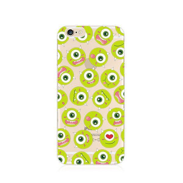 Cutie Michael Wazowski Monsters University iPhone 6s 6 Plus SE 5s 5 Soft Clear Case