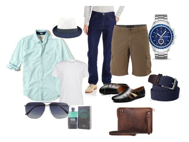 """""""Sommer 2017 man 60 Years - sport"""" by lenka-sykackova on Polyvore featuring Hollister Co., Fits, Lands' End, Gucci, La Perla, Express, Tom Ford, Woolrich, men's fashion and menswear"""