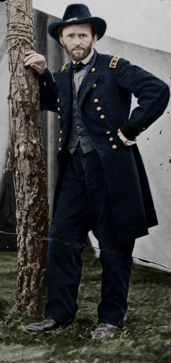 1864 ~ Ulysses S. Grant was put in command of the Union Forces after victories at Shiloh and Chattanooga. He worked closely with President Lincoln and was eventually successful in the final defeat of the Confederate army.