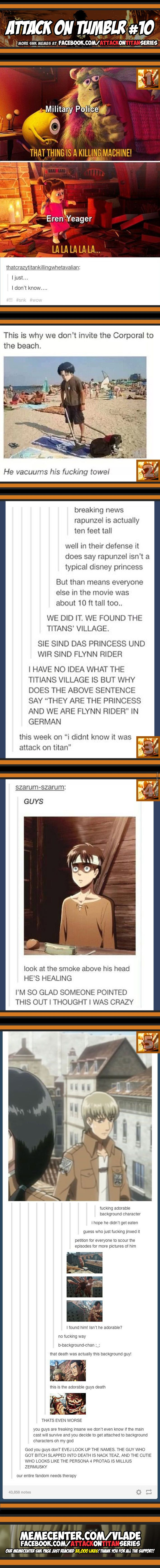 Attack on Tumblr #10 That last Tumblr post on the pic is so true!