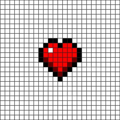 health heart pixel art                                                       …