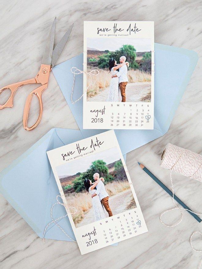 Foto stampabili gratuite in stile calendario Salva gli inviti di data! #Hochzeitsein