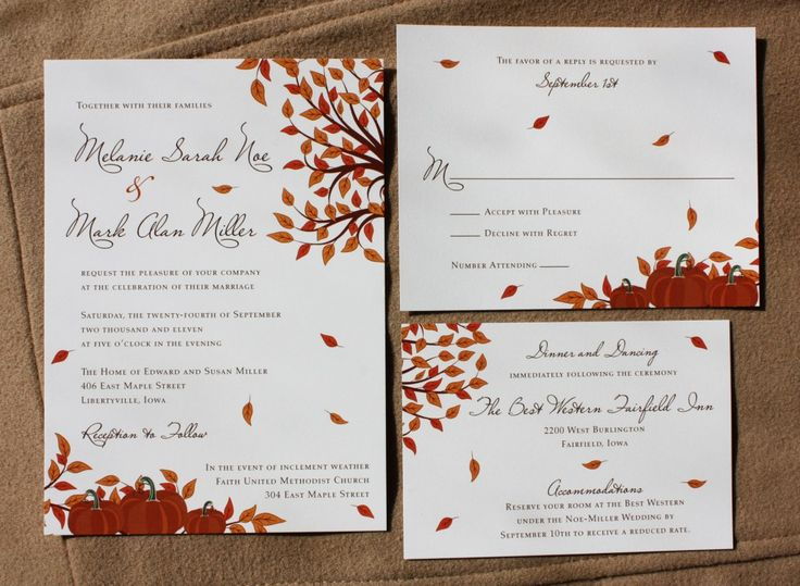 Stylish Elegant Fall Wedding Invitations Weddingomania 26