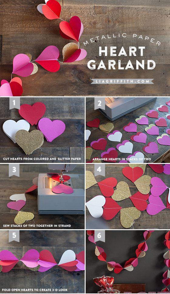 HEART GARLAND FOR VALENTINE'S DAY DECOR