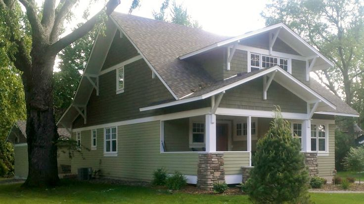 Exterior, Minimalist House Plan Exterior Gable Trim For Roof Design White  Cedar Craftsman Grable Brackets Greenish Vinyl Siding Decorative Wall  Triple ...