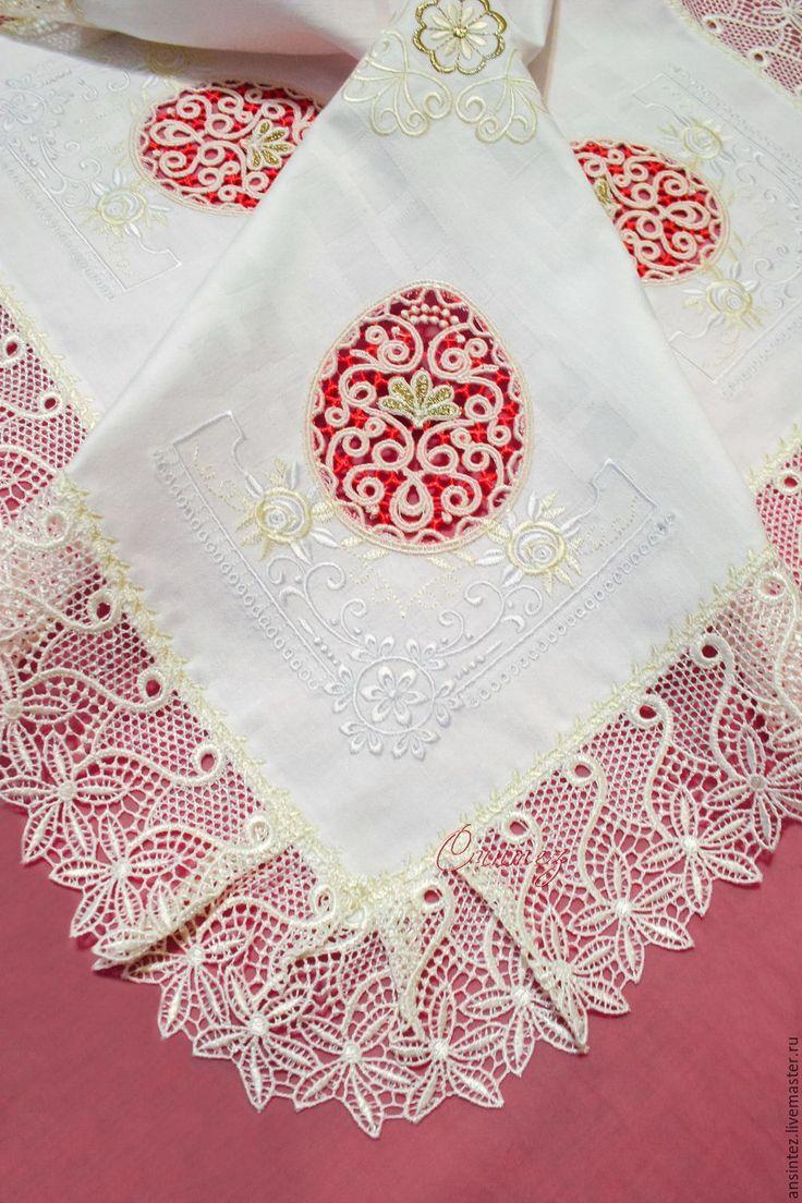 Купить салфетка праздничная Ажурная Пасха декоративная накидка на подушку - салфетка пасха, пасхальная салфеточка