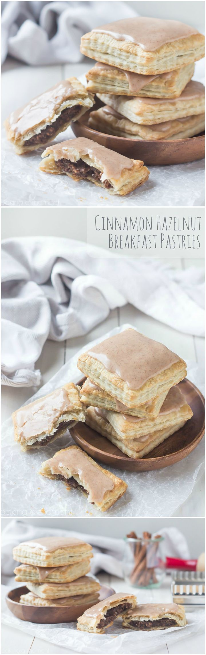 Cinnamon Hazelnut Breakfast Pastries- the crust is so flaky & buttery, and that filling! These make busy mornings feel so much more special.