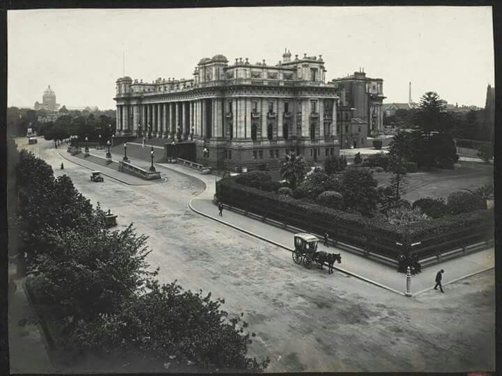 Parliament House on Spring Street,  Melbourne, Victoria.Pre  Federation.