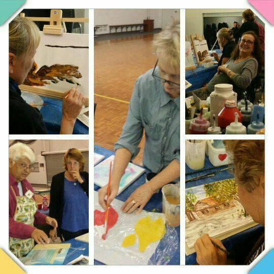 We are a community art group meeting every Tuesday to create Art and Craft