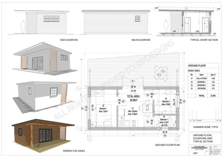 We have just designed brand new small (25 sq m) summer home for your pleasure.  172 mm thick roof, exterior walls and floor panels with timber frame structure are secret formula to erect this small building with 3 people during one day!