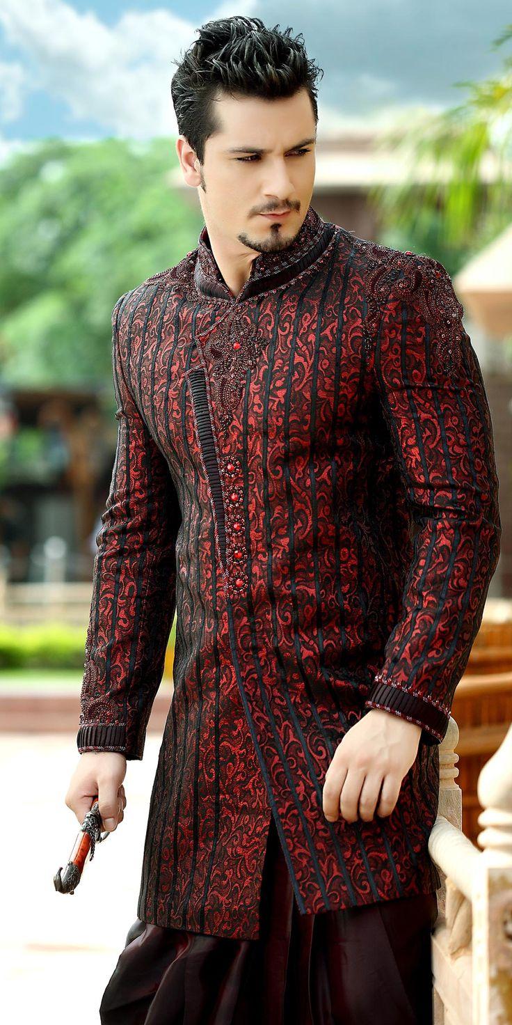 Sherwani Wedding Jacket - a traditional garment worn in Pakistan - I feel this could inspire me to make something similar