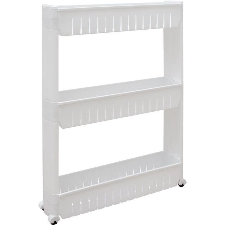 eyepower Rolling shelf for kitchen bathroom plastic White ...