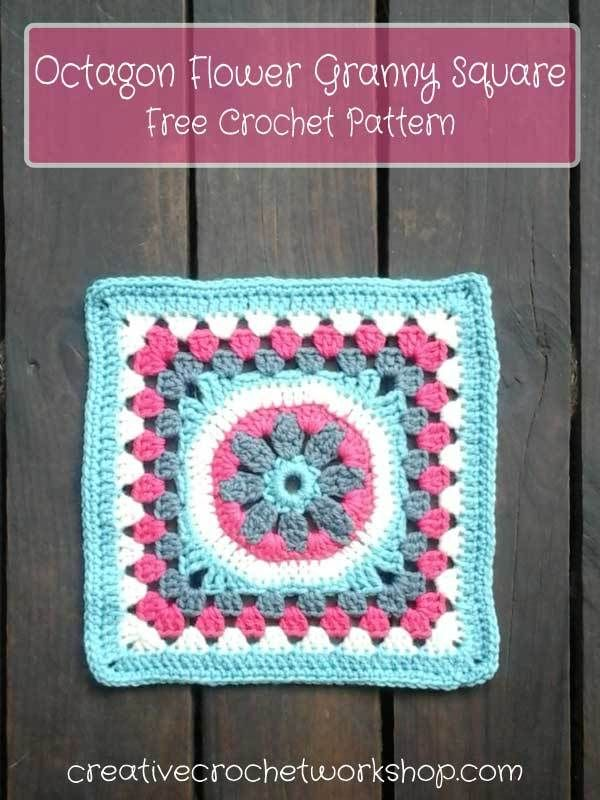 Octagon Flower Granny Square | Creative Crochet Workshop