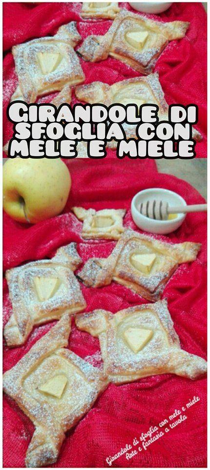 INGREDIENTI: 1 rotolo di pasta sfoglia 4 cucchiaini di miele 1 spicchio di mela 10 g di zucchero a velo un pò di latte per spennellare la superficie della sfoglia
