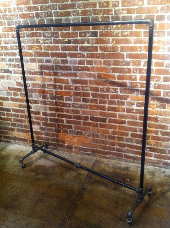 Industrial Pipe Clothing Rack 48 by WilliamRobertVintage on Etsy, $150.00