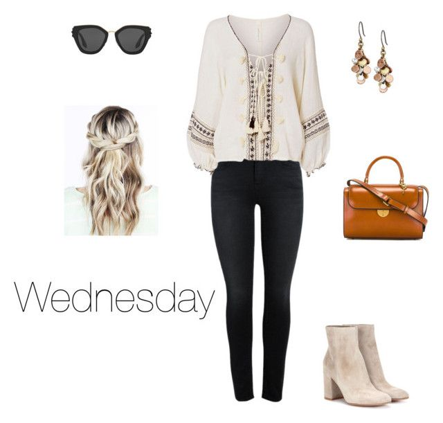 """Wednesday"" by danicarae on Polyvore featuring Gianvito Rossi, Cool Change, Lucky Brand, Maison Margiela and Prada"