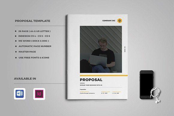 Proposal by Occy Design on @creativemarket #design #template #proposal #project #webdesign #journal #presentation #brochure